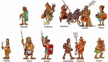 Gladiators Types Gladiator Roman Rome Ancient Were
