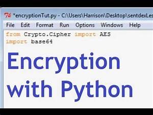 Python Encryption Tutorial with PyCrypto - YouTube
