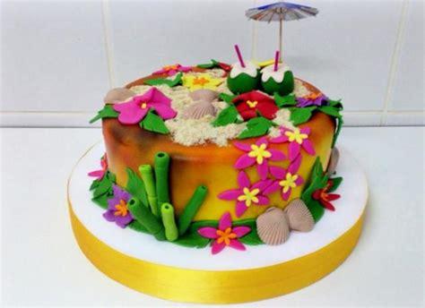 Hawaiian Theme Cake With Sand Shells Coconuts & Bamboo.jpg