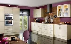 kitchen with purple wall paint choosing paint colors for With what kind of paint to use on kitchen cabinets for how to place wall art