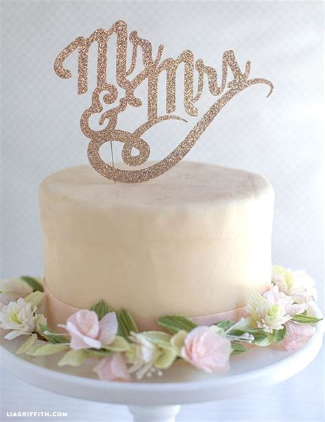 sparkly diy cake toppers for wedding or birthdays diy