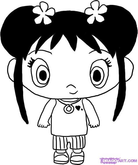 draw kai lan step  step nickelodeon characters