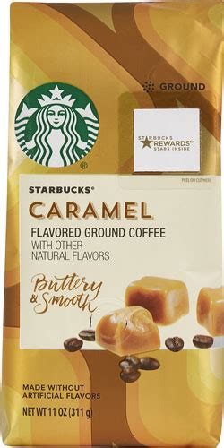 Every sip is smooth and filled with flavors that mingle perfectly together. Starbucks Flavored Ground Coffee Caramel -- 11 oz - Vitacost