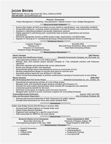 electrical project engineer resume resume template