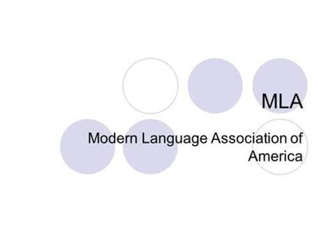 modern language association guidelines mla page format for essays ppt