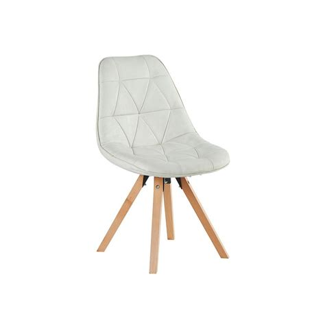chaise sans pied chaise fauteuil capitonné esprit scandinave tissu
