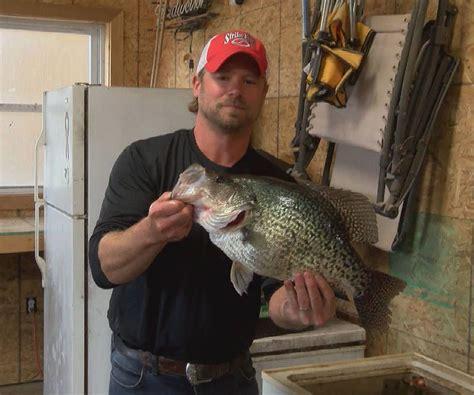 il state record crappie caught  kinkaid lake