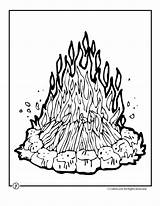 Campfire Coloring Camping Camp Drawing Fire Clipart Printable Colouring Activities Sheets Campfires Adults Children Preschool Theme Library Cartoon Activity Send sketch template