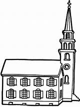 Church Coloring Pages Tower Country Place sketch template
