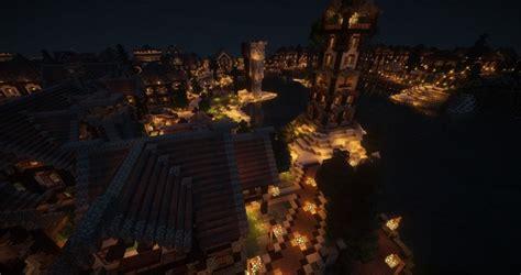 large medieval village  city minecraft building