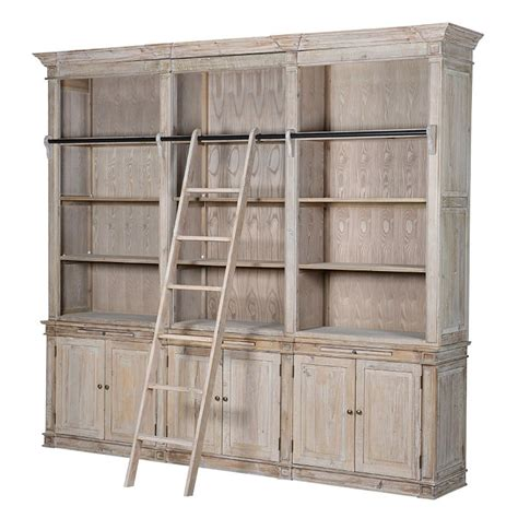 Extra Large Bookcase With Ladder  La Maison Chic