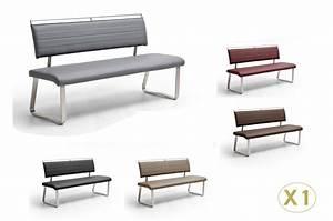 Banquette Salle A Manger : banc design avec dossier cbc meubles ~ Premium-room.com Idées de Décoration