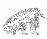 Wings Fire Coloring Pages Sandwing Dragon Base Dragons Jade Mountain Deviantart Drawing Template Easy Academy Printable Games Train Wof Icewing sketch template