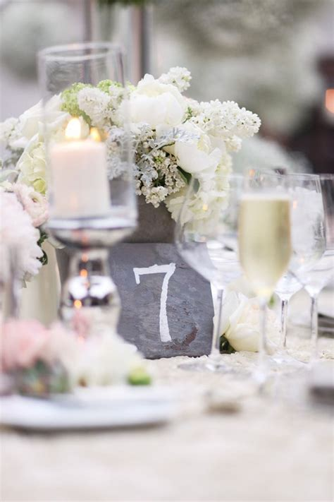 wedding table number galore belle  magazine