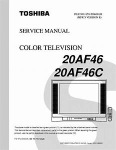 Toshiba 20af46 20af46c Service Manual Download  Schematics
