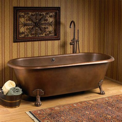 copper claw foot tub melinda smooth copper ended clawfoot tub ebay
