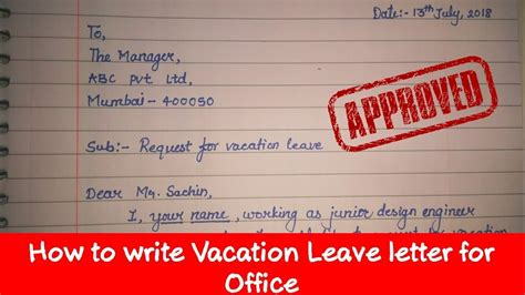 write leave letter application   write leave