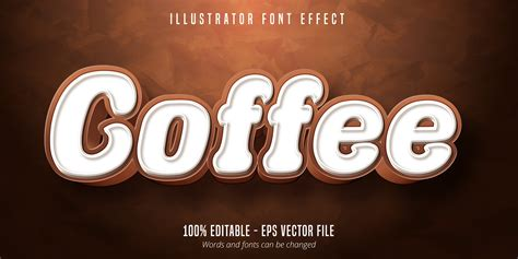 Coffee text font effect - Download Free Vectors, Clipart ...