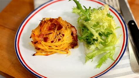 cuisine az tartiflette cheese and potato nests recipe sbs food
