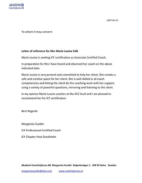 concern letter