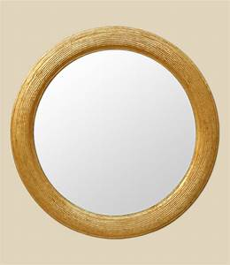 Miroir Doré Rond : miroir rond dor d cor cannel ~ Teatrodelosmanantiales.com Idées de Décoration