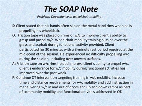 Image Result For Sample Occupational Therapy Soap Note