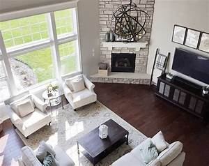 Best 25 corner fireplace layout ideas on pinterest open for Arranging living room with open floor plans