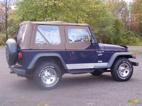 jeep dark blue 1997 dark blue pearl jeep wrangler sport 4x4 55488037
