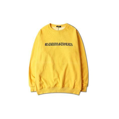supreme dress grande neck yellow sweater sweatshirt