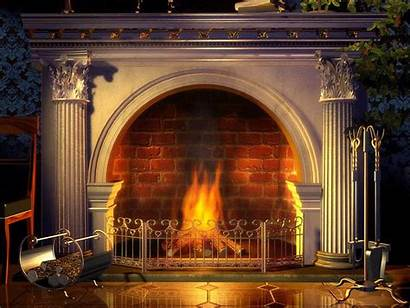 Fireplace Modern Mantels Living Classic Christmas Cozy