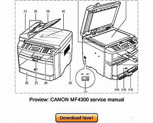Canon Mf4300 Mf4380 D450d Service Repair Manual Download