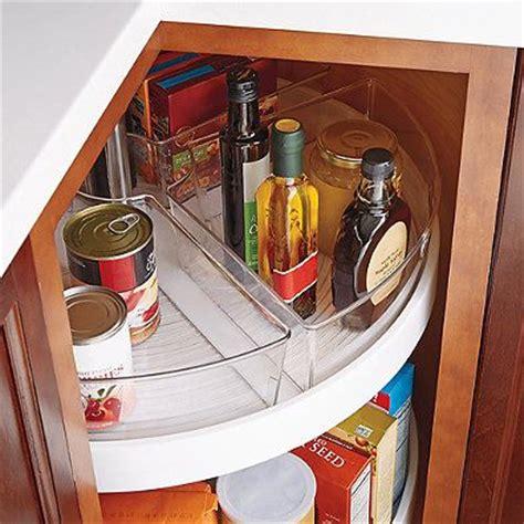 lazy susan cabinet organizers kitchen interdesign 174 cabinet binz lazy susan quarter wedge 8921