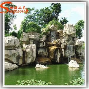 Cheap Fiber Glass Rock Waterfall Garden Landscape Fountain