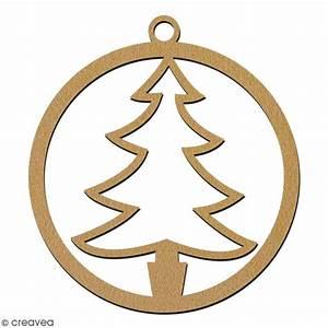Arbre De Noel En Bois : suspension ronde arbre de no l en bois d corer 7 cm ~ Farleysfitness.com Idées de Décoration