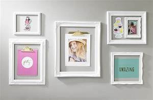 Wall decor and photo frames : White open frame trendy wall art craft warehouse