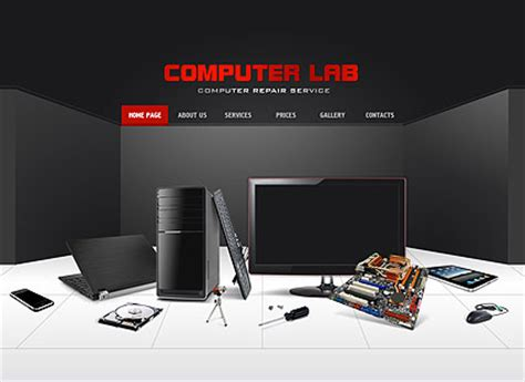 computer repair dynamic flash template