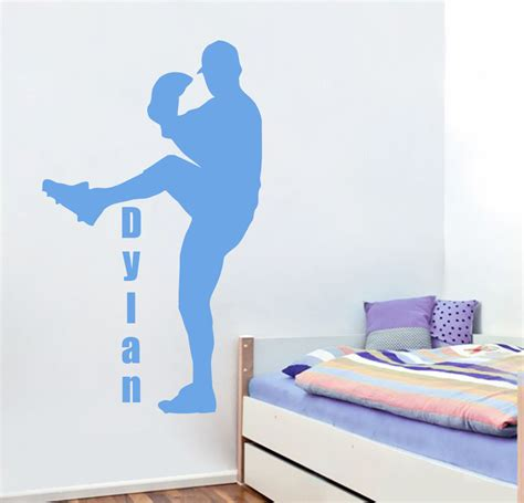 wall decals for boys room personalized name wall decals sport decal baseball boys 8871