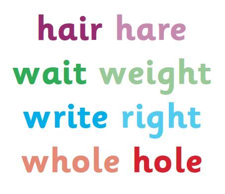homophones explained  primary school parents