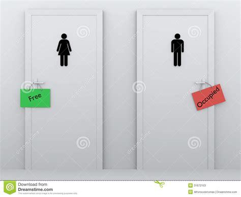 le de toilette boby lapointe le toilette occupate e liberano fotografie stock immagine 31672153