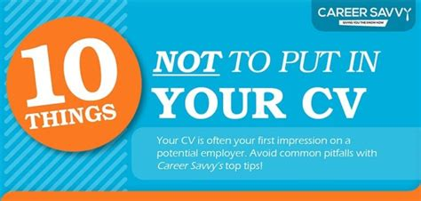 Photo In Resume Or Not by Resume Infographic 10 Things Not To Put In Your Resume