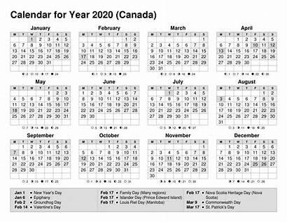 Calendar Printable Canada Notes Calendars