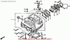 Honda Xr500r 1984  E  Usa Cylinder Head 81-82