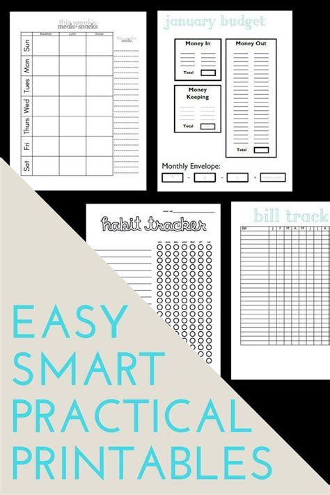 debt  budget templates printable planner planner pages