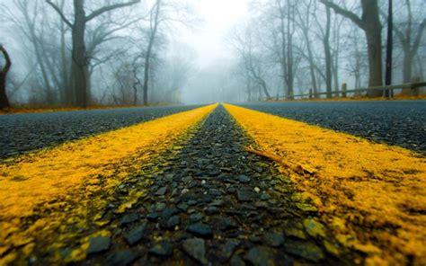 road close  mist wallpaper  thormark revelwallpapersnet