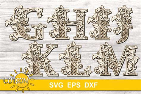 Available for free in svg, dxf, eps and png formats. 3D Alphabet Layered Mandala SVG Bundle 26 letters (529537 ...