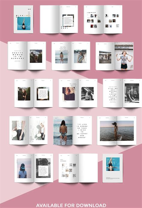Fashion lookbook template, minimal style. | Дизайн буклета ...