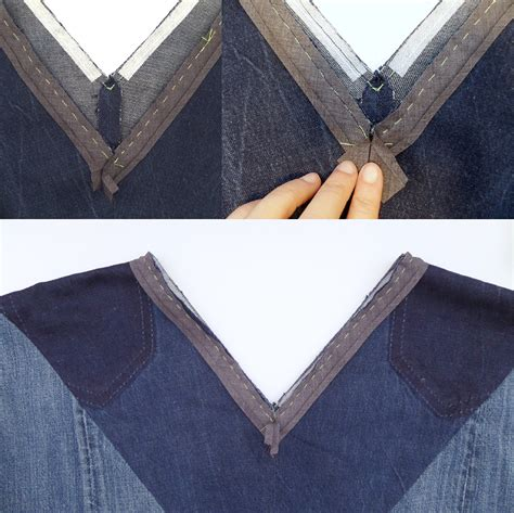 Sew aldo, it's sew time : how to attach bias binding as a facing to a v-neck3 | Bias ...