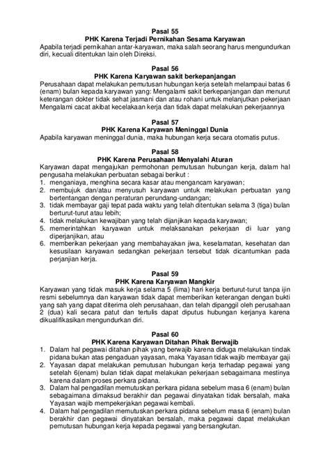 Contoh Surat Pemutusan Hubungan Kerja Karena Sakit