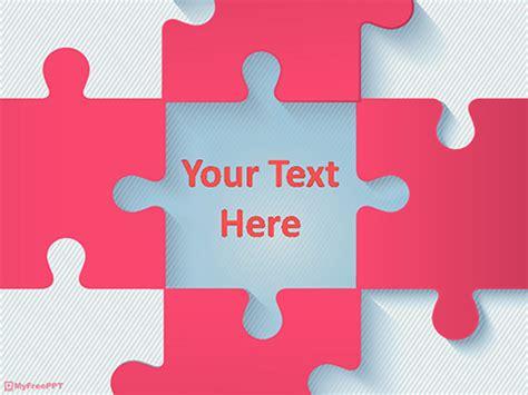puzzle pieces powerpoint templates myfreepptcom