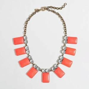 Jew Factory Neon Tile Collar Necklace in Orange